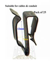 Spring Steel Wiring Chassis Clip  Pack of 25 ALT/CC40-18
